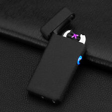 Black Double Arc Light USB Electronic Battery Frosted Cigarette Lighter