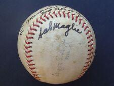 SAL MAGLIE DICK FARRELL CARL ERSKINE Signed Baseball AUTO  DOOGERS JSA Y06377