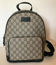 NEW! GUCCI GG SUPREME BEIGE BROWN EBONY SMALL CANVAS BACKPACK BAG SALE