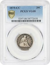 1875-CC 20c PCGS VG-08 - Scarce Carson City Issue - 20-Cent Piece