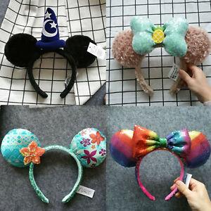 New Disney Parks Aulani Minnie Mouse Ears Mickey Party Festival Cos Headband