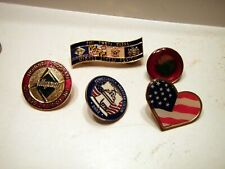Heart Lapel Pin's. Assorted Maryland American Flag