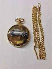Suzuki GX ref244 pewter effect emblem gold quartz pocket watch
