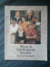 New listing What Is The Purpose Of Life? How Can You Find It? New Brochure WatchTower Bible