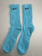 NEW Light Blue Coloured Medium Nike socks size 5-8 retro vintage custom tie-dye