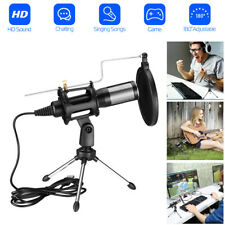 For Home Studio Video Recording USB Plug Condenser Microphone with Mic Stand