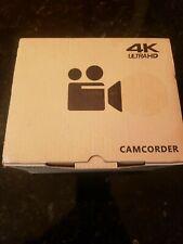 WiFi 4K ULTRA HD 48MP 1080P Digital Video Camera Recorder Camcorder DV+ Lens Mic