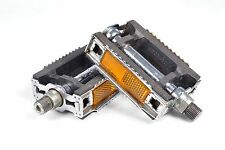 """Weco 432 Bicycle Pedals West Germany Touring Cyclocross 9/16"""" Thread Vintage"""