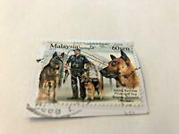 Stamp, Malaysia, Anjing Kawalan Protection Dog, Belgian Shepard, 2018, 60 sen