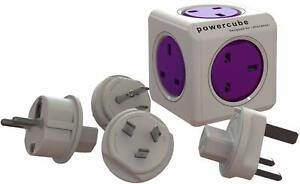 Powercube Rewireable USB plus Travelplugs The perfect travel companion Brand New