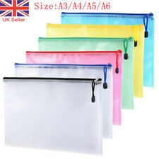 More details for a3/a4/a5 plastic zip file bags storage document folder protective wallet pockets