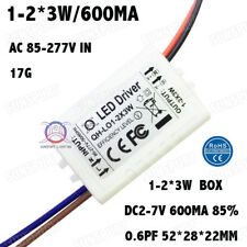10PCS AC85-277V 5W LED Driver 1-2x3W 600mA DC2-7V Constant Current Power Supply