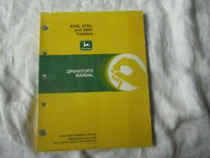 John Deere 8560 8760 8960 60  series tractor operator's manual