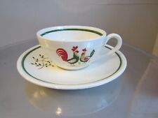 EUC Horizon Steubenville Rooster Chicken Cup and Saucer