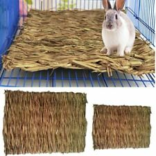 New listing Rabbit Grass Chew Mat Small Animal Hamster Guinea Pig Cage Bed House Grass Pad