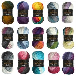 Wollbiene Batik Wolle fantastischer Farbverlauf 5x100g Multicolor Strickwolle