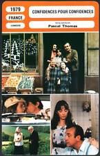 FICHE CINEMA : CONFIDENCES POUR CONFIDENCES Galabru,Villeret 1979 Heart to Heart