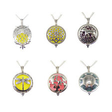 Pack of 6 Silver Tone Magnetic Hollowed Lockets Mixed Pendants Necklaces