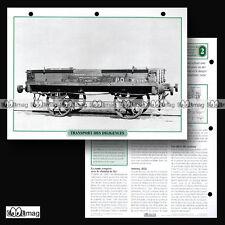 #098.03 Fiche Train - LE TRANSPORT DES DILIGENCES & CALECHES AVEC LE TRAIN 1840