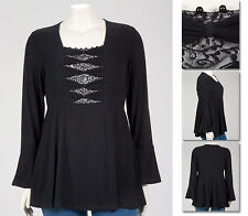 NEW!  Zaftique BEADED BOW TOP Black GOTHIC 0Z / Size 14 / Womens L Large