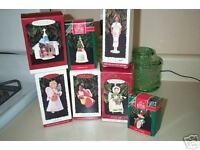 Hallmark Set Of 7 Keepsake Ornaments Barbie Angels Christmas Tree Hark Faithful
