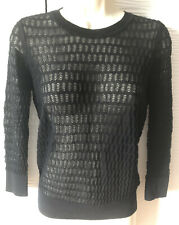 Marc By Marc Jacobs Womens Knit Black Semi Sheer Pullover Sweater Top Size XS
