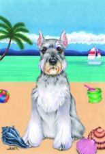 Beach Garden Flag - Schnauzer 690121