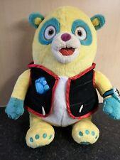 "Authentic Disney Store Agent OSO Soft Toy Panda Plush Beanie 14"" Tall Yellow"