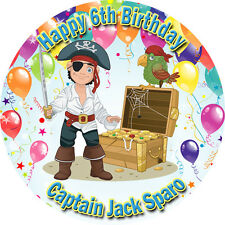 Pirate Edible Cake Image Icing Birthday Decoration Personalised Party Topper