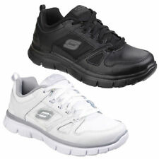 Skechers Leather Upper Shoes for Girls Casual Trainers