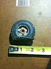 BUDDY L TRUCKS BLACK PLASTIC 10.00 X 20 TIRE with SILVER CENTER HOME MADE FLAT