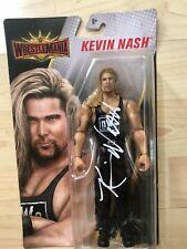 Kevin Nash Autographed WWE Wrestlemania  Figure with COA AEW WWE WCW New Japan