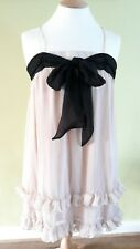 H&M - BRAND NEW PARTY DRESS UK12 Dusky Pink Ruffle Night Out Occasion RRP £30