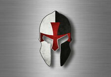 Sticker helmet flag spartan warrior decal tuning molon labe knights templar