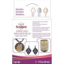 Sculpey Liquid Bakeable Clay 1oz (30ml) 3pcs - Metallics - BEST VALUE IN EUROPE