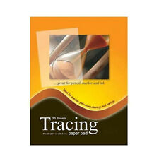 """Premium Tracing Paper Pad 30 Sheet 9"""" x 12"""" Quality Tracing Sketch Book"""