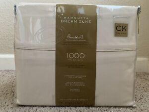 Wamsutta Dream Zone 1000-Thread Count PimaCott  Cal King Sheet Set Solid Ivory