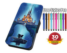 Disney Castle Magical Flip Phone Case Cover for iPhone Samsung And Huawei