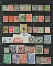 BRITISH COLONIES & COMMONWEALTH STAMPS SELECTION ON  STOCK CARD   (F91)
