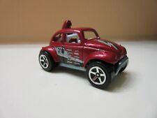 HOT WHEELS Baja Beetle VW Bug Dark Red 310 Viscottis. Near Mint Loose