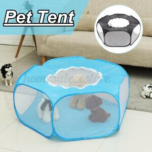 """47"""" Portable Pet Puppy Tent Playpen Indoor Outdoor Teepee Dog Cat Folding  CA3"""