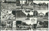 Ansichtskarte Bad Rothenfelde - Freibad, Kahnteich, Badehaus, Kurhaus, u.a. s/w