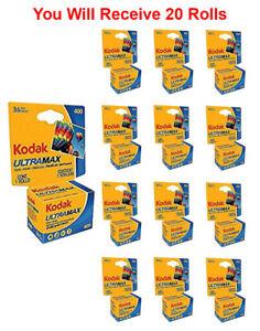 20 Rolls- Kodak Ultramax 400 GC 135-36 35mm Film Color Print Carded Fresh 2023