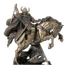 Viking On Rearing Horse Statue Sculpture Figurine - WE SHIP WORLDWIDE
