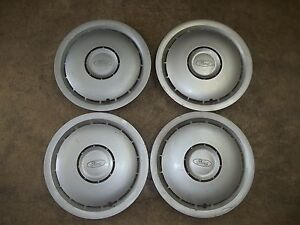 "86 87 88 89 Ford Taurus Hubcap Rim Wheel Cover Hub Cap 14"" OEM USED 851 SET 4"