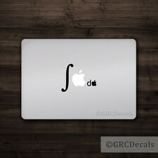 Integral Calculus - Mac Apple Logo Laptop Vinyl Decal Sticker Macbook Math Geek