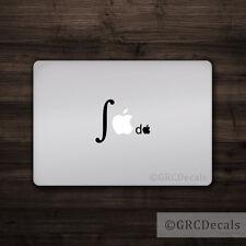 Integral Calculus - Mac Apple Logo Laptop Vinyl Decal Sticker Macbook Math Geek