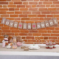 """""""l'amour est doux"""" mariage Bunting Mariage candy bar bagages tag parti seulement mon type"""