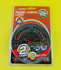 Heise - Sideview 6.9w Led Headlight Accent Lights (pair) - Amber #ERD33