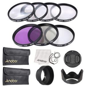 Andoer 58mm UV+CPL+FLD+Macro Close-Up Filter Kit Set for CANON NIKON DSLR V0N3